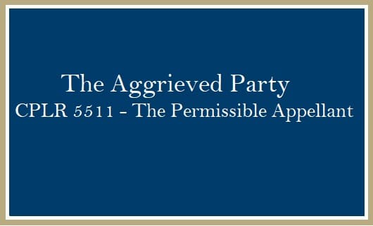 The Aggrieved Party Permissible Appellant