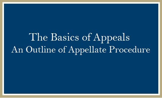 Basics of Appeals