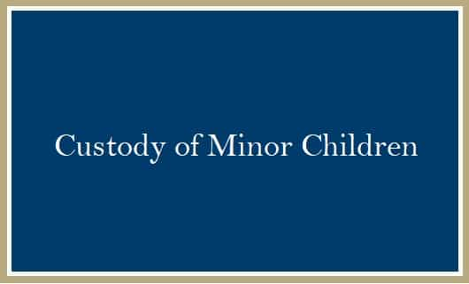 Custody of Minor Children