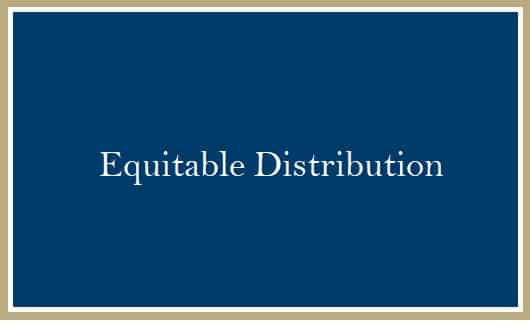 Equitable Distribution