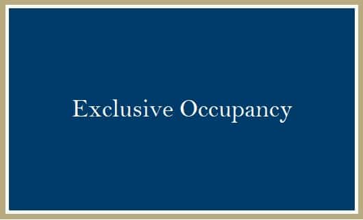Exclusive Occupancy