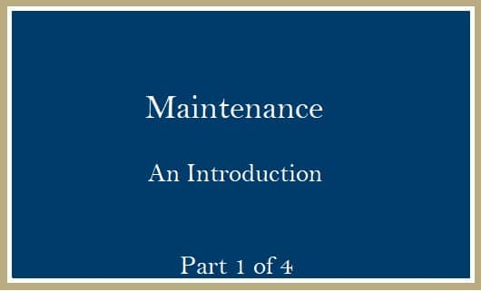 Maintenance Introduction