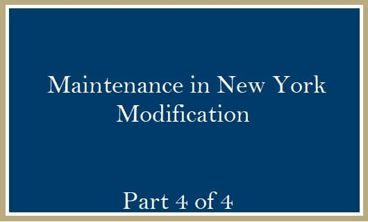 Modification of Maintenance