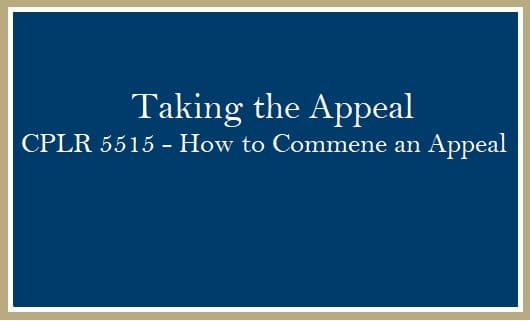 Taking the Appeal